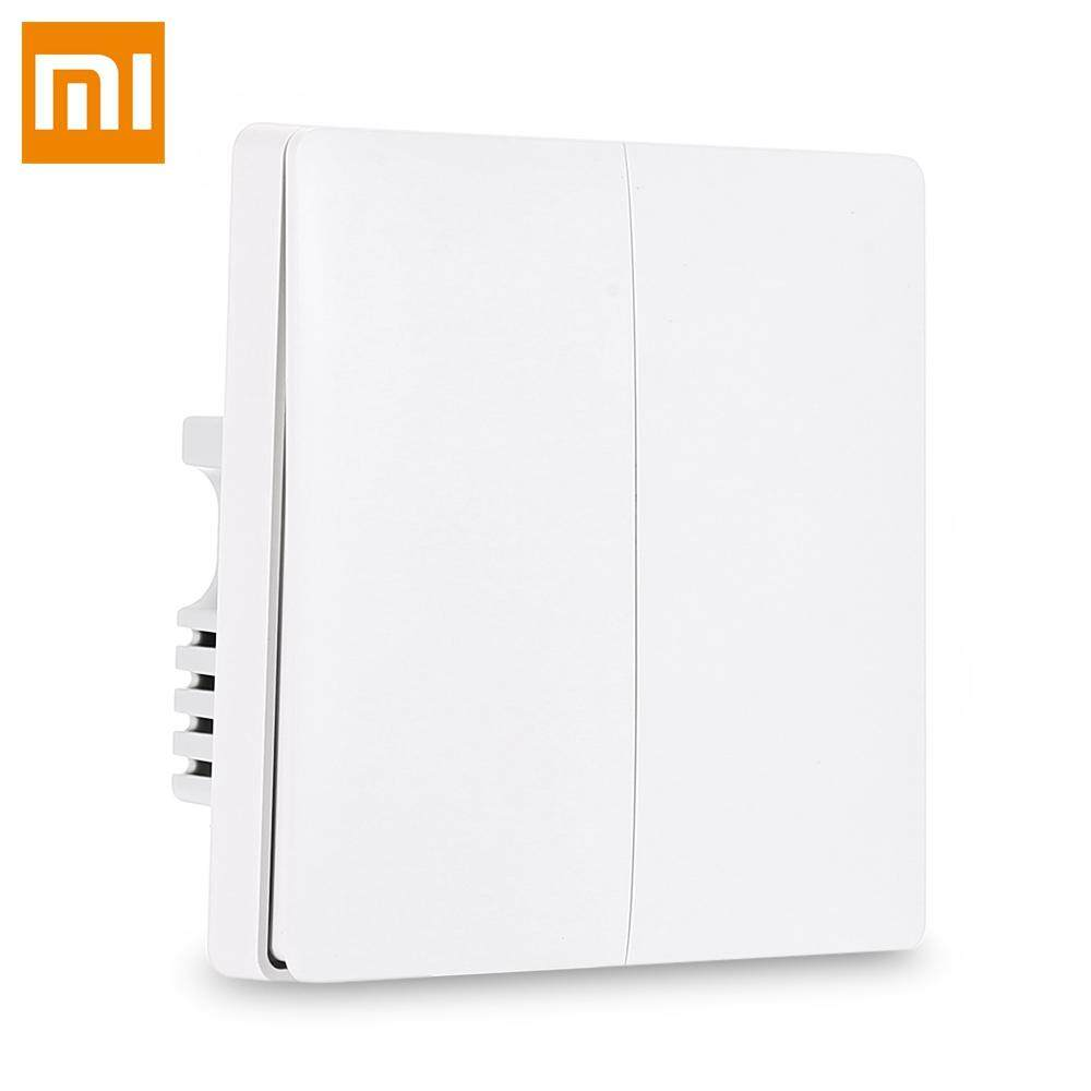 Xiaomi QBKG04LM Aqara Wall Switch Smart Light Control ZigBee Versi Double Key(Can Work Without Neutral Wire) (Only Works With Xiaomi Multifunctional Gateway or Aqara Air Conditioner Controller)