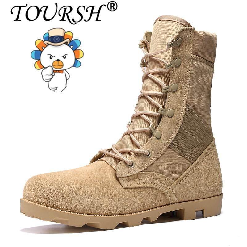รองเท้า Toursh ชายเข่า - รองเท้าบูทสูง Martin กันน้ำยุทธวิธีรองเเท้าบูทจักรยานยนต์ Plush Warm กลางแจ้งรอเท้าบูททำงาน By Toursh.
