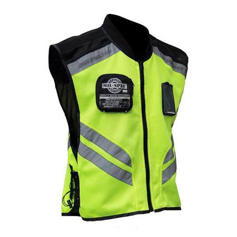 M-4xl รถจักรยานยนต์ขี่สะท้อนแสงเสื้อกั๊กชุดทีม Fluorescent ความปลอดภัย.