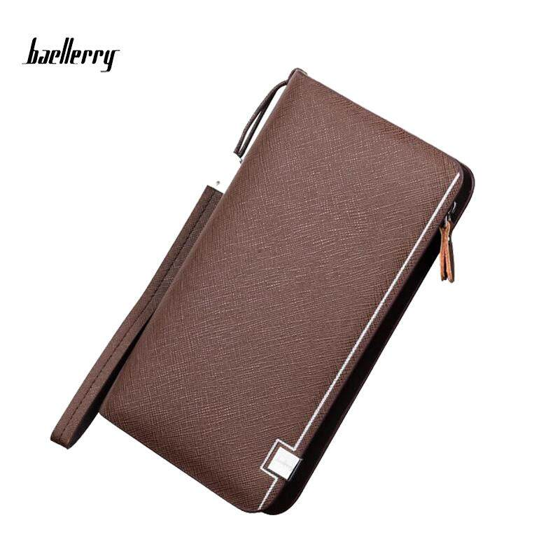 Baellerry WLT-141 ZX-6231 Classic Fashion High Quality Leather Men Long Wallet