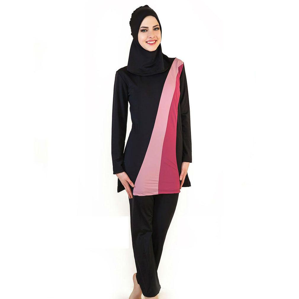 7c01dc45289fa Specifications of Muslim Women Floral Swimwear Islamic Swimsuit For Women  Hijab Swimwear Full Coverage Swimwear Muslim Beachwear Swim Suit Black