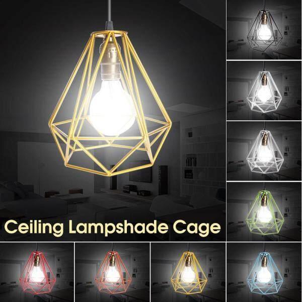 Chụp Đèn Chụp Đèn Hiện Đại, Khung Dây Kim Loại Edison Công Nghiệp Gác Xép Trần Mặt Dây Chuyền, Đèn Lồng Đèn Treo