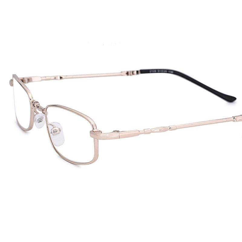 e1415ca0a4ac 100 Degree Mens Womens Foldable Copper Metal Frame Vision Care Durable Reading  Glasses Eyeglasses With Case