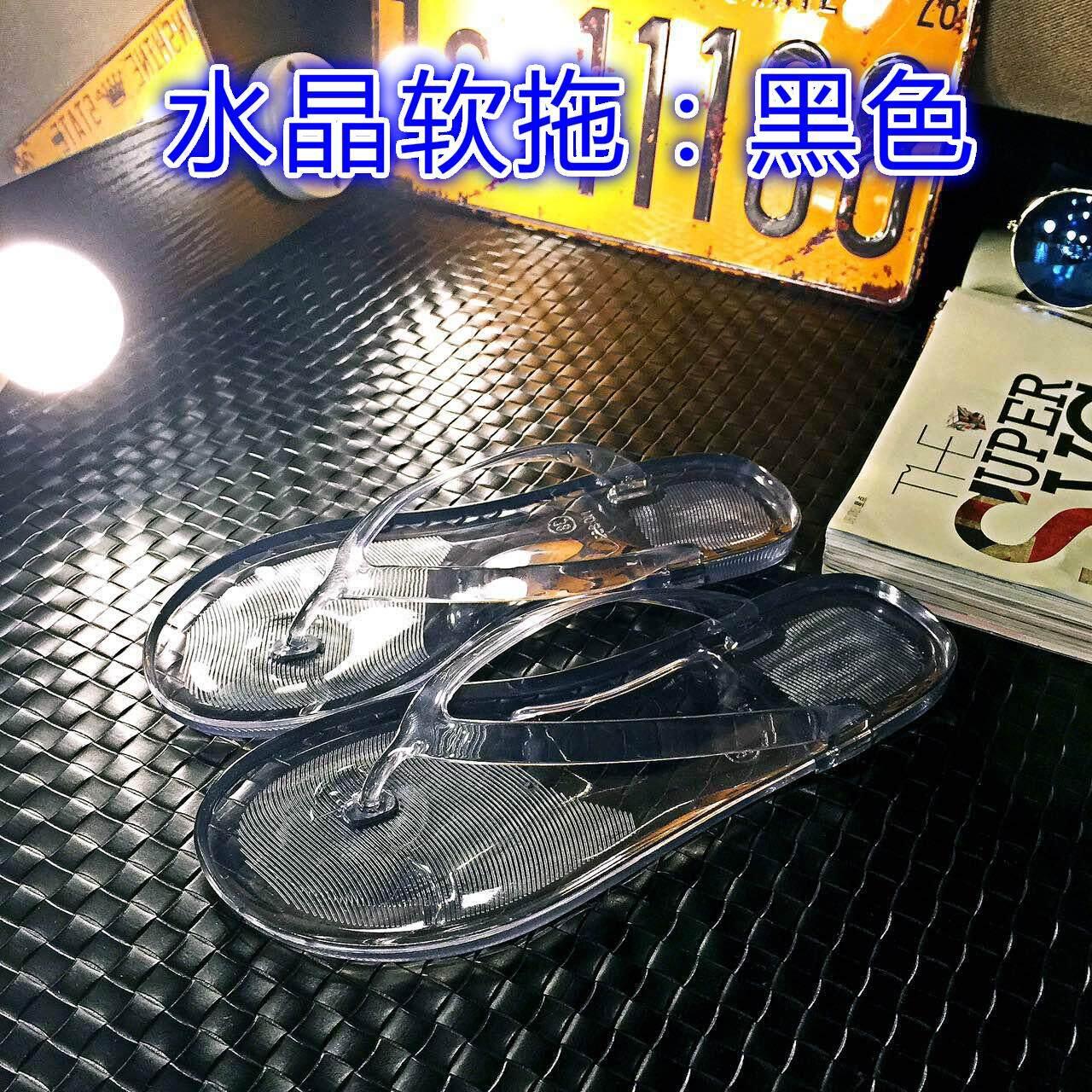 ... Sandal Korea Fashion Style Huruf Ren Sandal Pantai Transparan Wanita - 3 ...