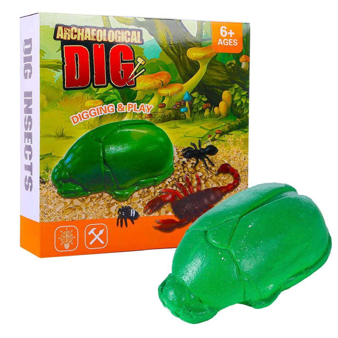 360DSC Anak-anak Serangga Fosil Arkeologi Mainan Penggalian