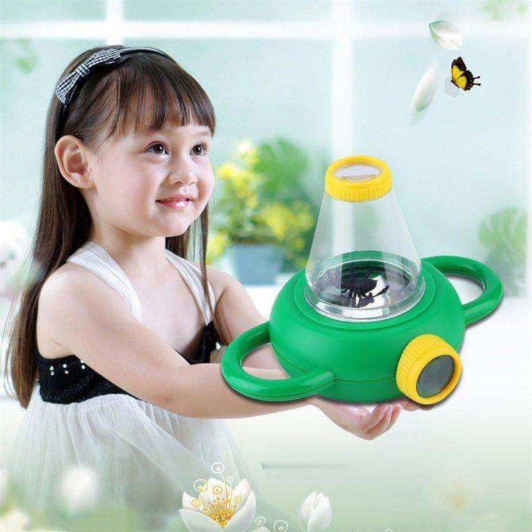 Hình ảnh Two Way Bug Insect Observation Viewer Kids Toy Magnifier Magnifying Glass - intl