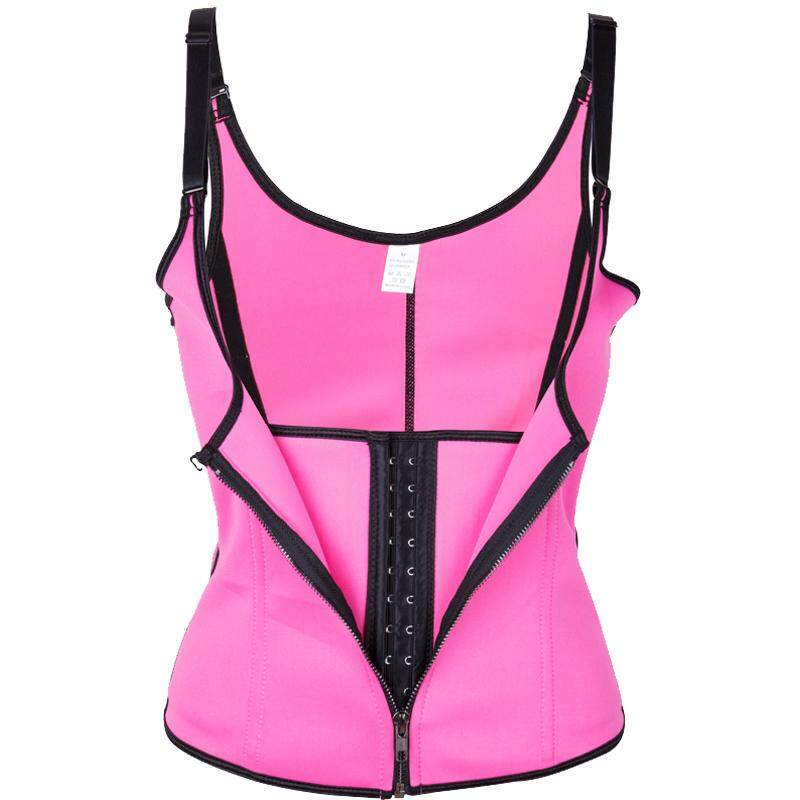 2a263d68d Women Slimming Zipper Waist Trainer Cinta Modeladora Hot Body Shaper Tummy  Waist Cincher Tank Corrective Shapewear