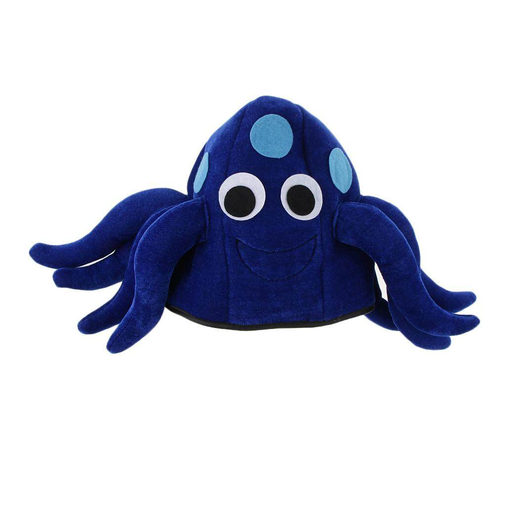 Magideal Funny Blue Plush Halloween Cartoon Octopus Animal Hat Adults Teens Party Festive Costume Accessory By Magideal.