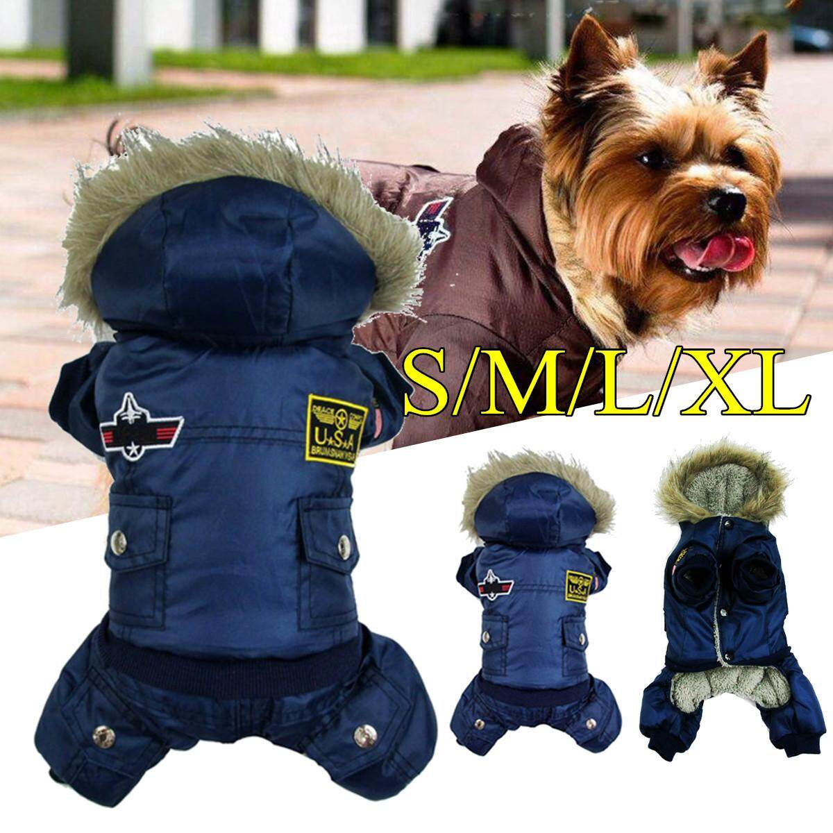 Waterproof Warm Winter Dog Coat Jacket Usa Air Force Pet Dog Cothes Xs-Xl  Xl By Moonbeam.