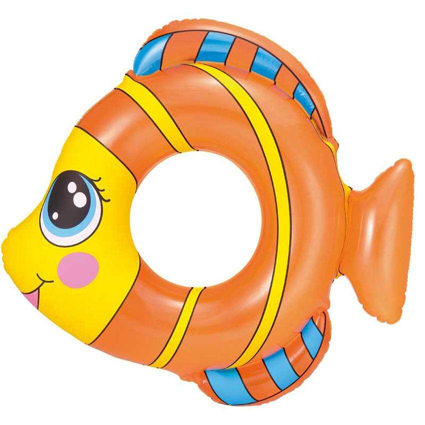 "Bestway 36111 81cm 30"" Friendly Fish Swim Ring Kids Children's Swimming Pool New"