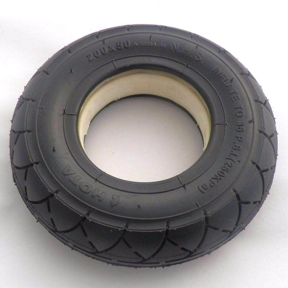Scooter Tubeless Solid No Flats Tire 200 X 50 (8 X 2) By Autoleader.