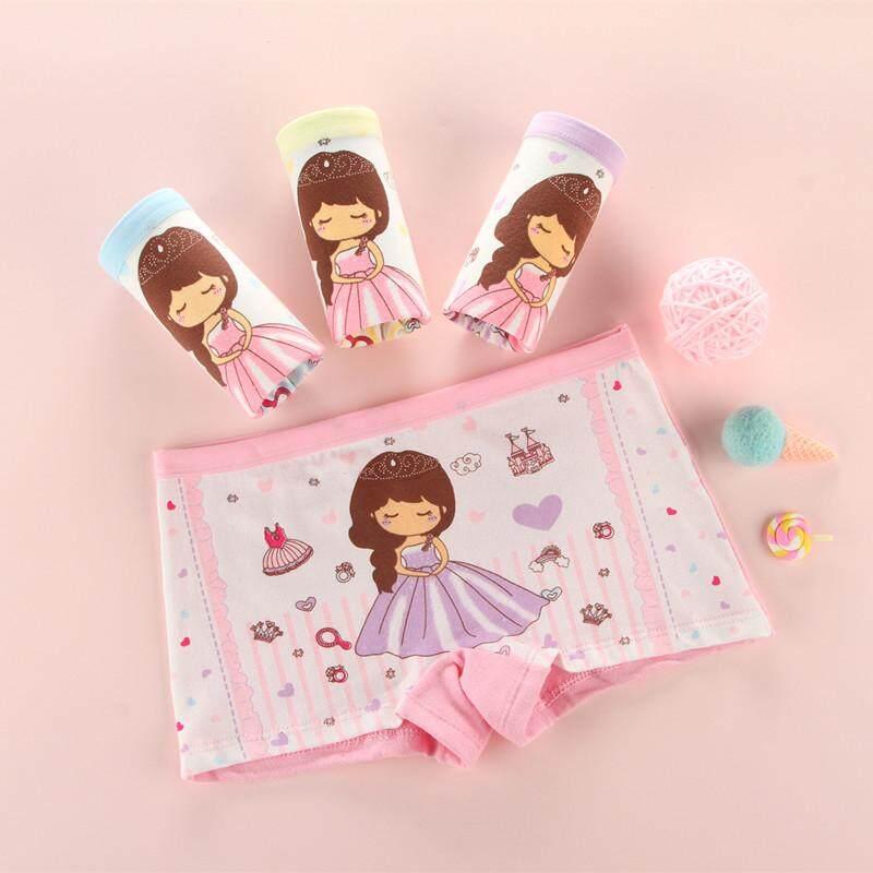 8022abead7ec WURUOTIM 4Pcs/lot Kid Cotton Panties 2-12Years Girls princess cartoon  printed Underwear