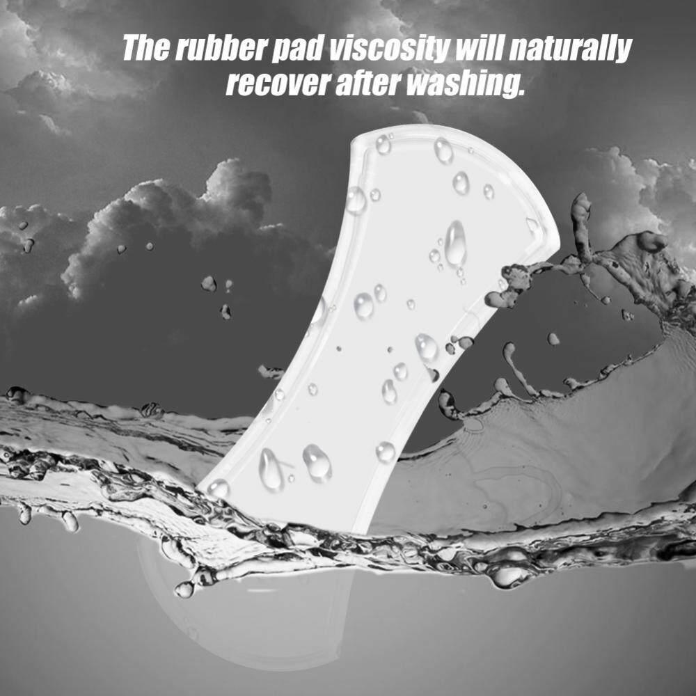 3 Pcs/pack Kuat Lengket Nano Karet Universal Gel Pad Mobil Braket Telepon Pemegang Putih & Hitam-Internasional - 2