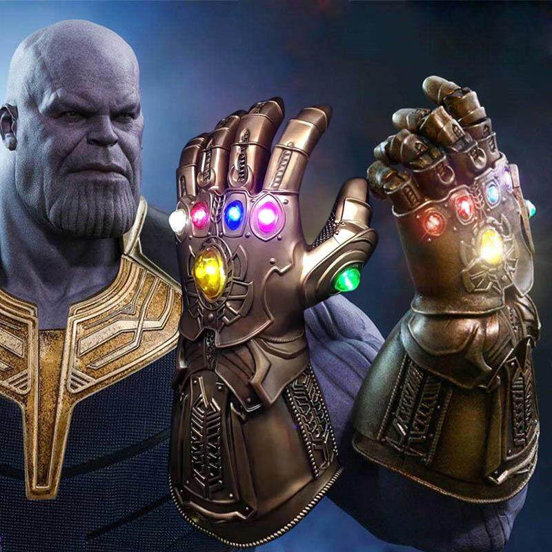 Amart Avengers Infinity War Infinity Gauntlet Led Light Thanos Led Gloves Cosplay Prop - Intl.