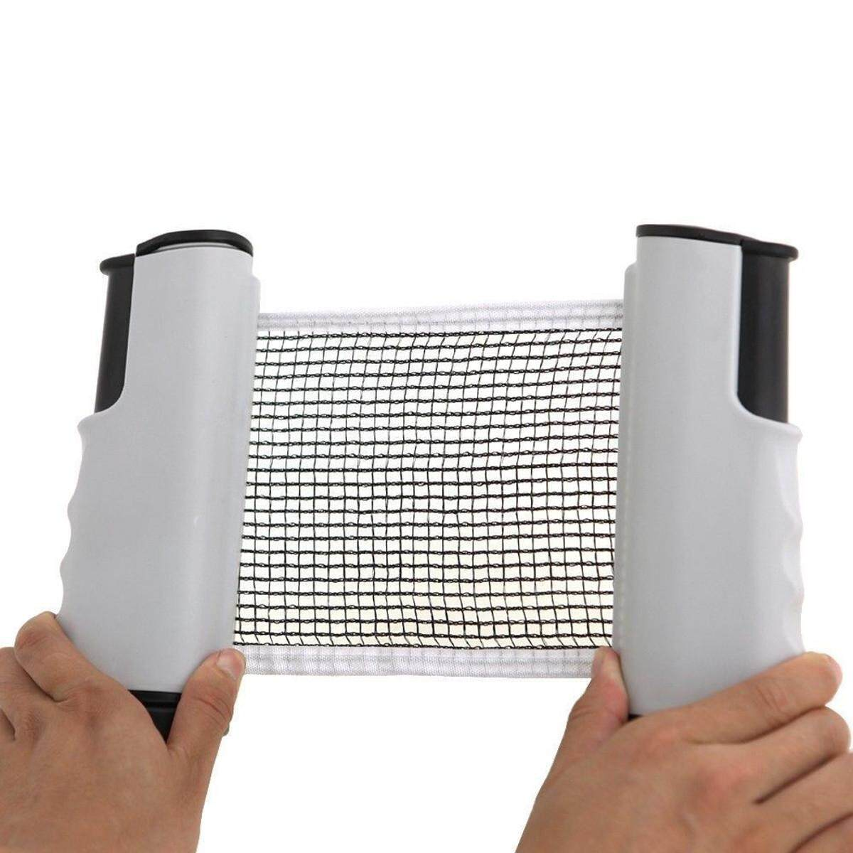 Games Retractable Table Tennis Ping Pong Portable Net Kit Replacement Set Indoor # White+Black