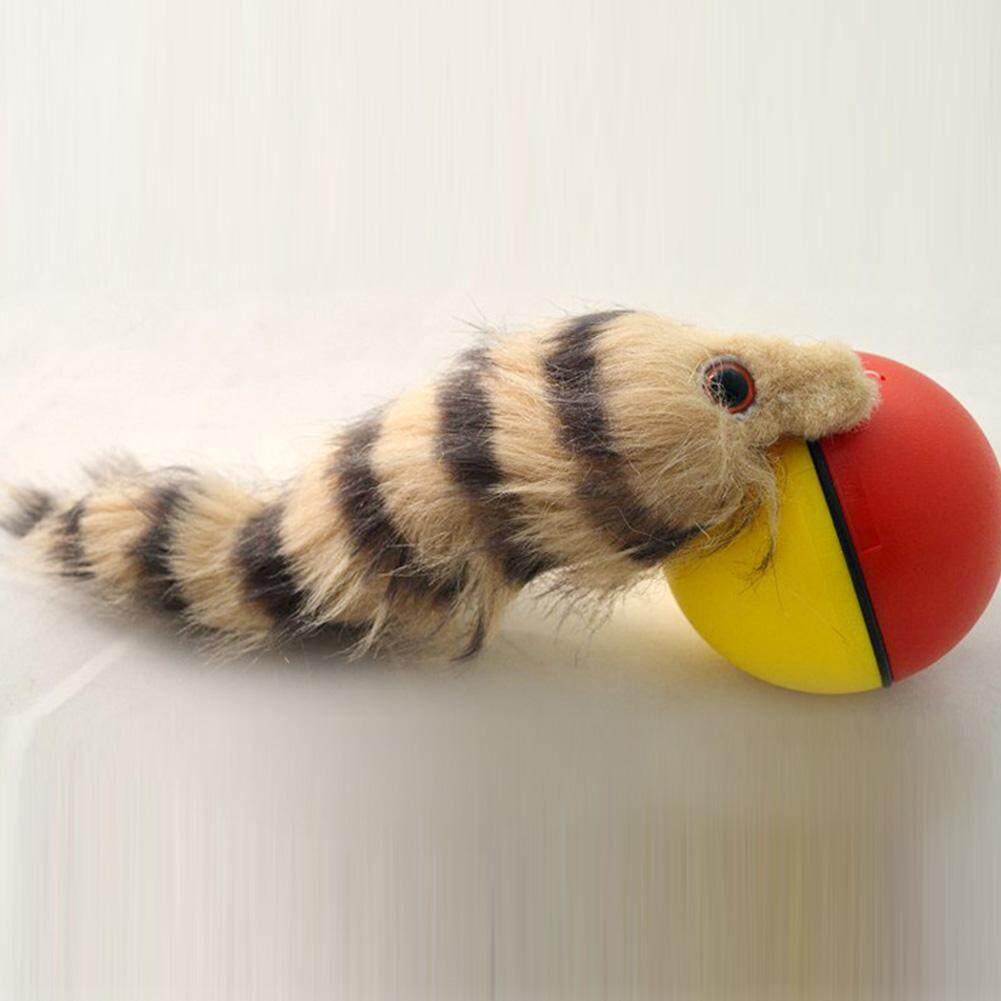 Lucu Anjing Kucing Musang Bermotor Bola Menggelinding Melompat Bergerak Mainan-Internasional