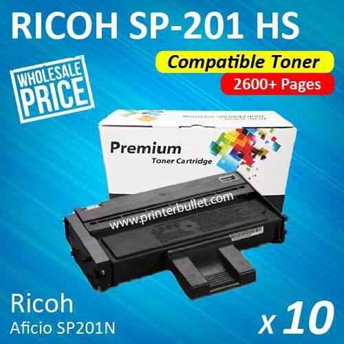 10 unit Ricoh SP200 / SP201 / SP204 / SP201n / SP201nw / SP203s / SP204sn / SP204sf / SP204sfn / SP204Sfnw / SP211 / SP213nw / SP211su / SP213snw / SP211sf / SP213sfnw Ricoh Aficio Compatible Toner Cartridge