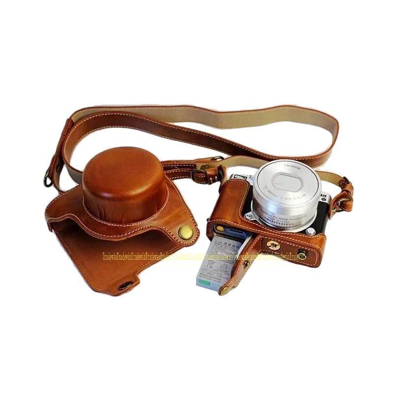 Mewah Kulit Tas Kamera Case untuk Nikon1 J5 dengan 10-30 Mm Lensa