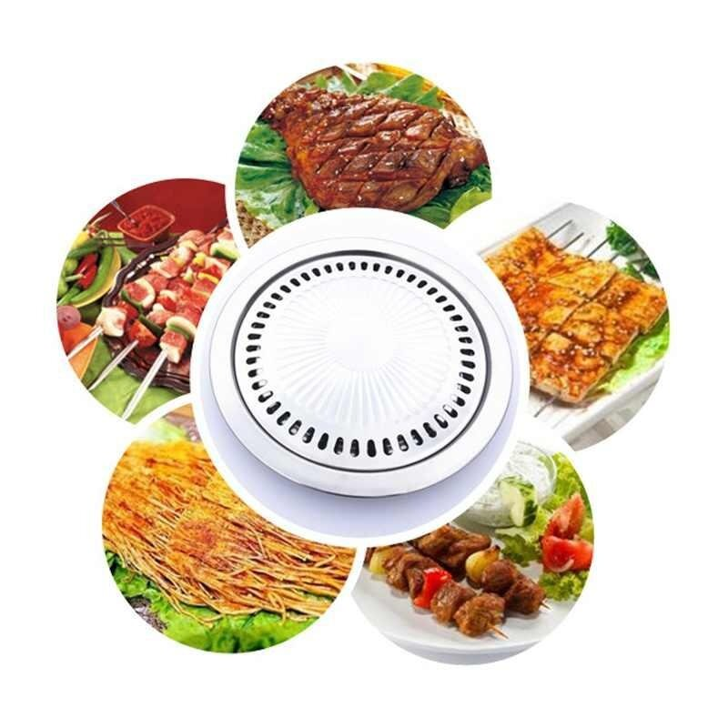 moyaa Barbecue Plate Cooking Pan Grill Steak Plate Non-stick Stainless Steel Bakeware - intl