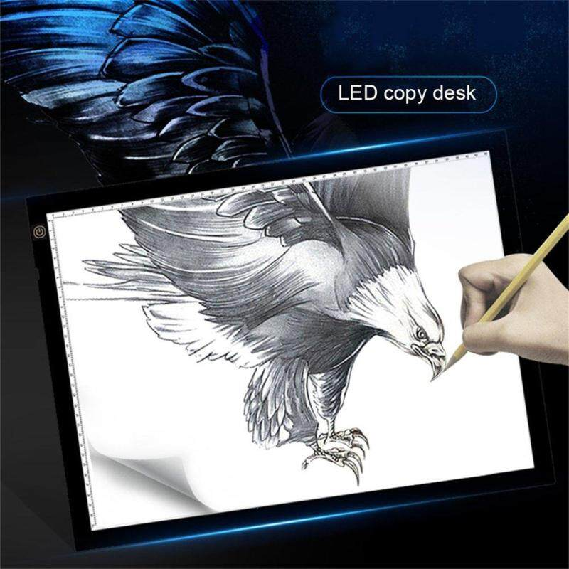 Luwentian A3 Portable LED Drawing Board Eyesight Protection Touch Dimmable Tracing Table Light Pad Box for 2D Animation Sketching - intl