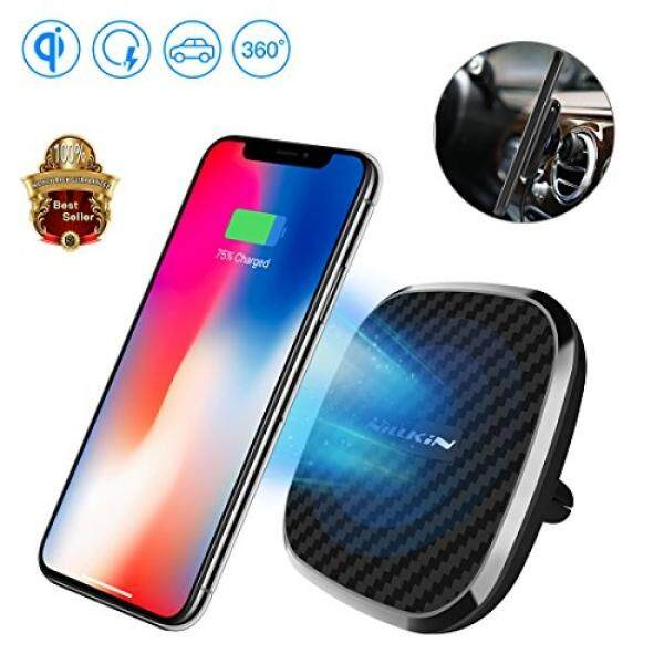 Fast Wireless Charger, Nillkin 10W Fast Charging Air Vent Vehicle-Mounted Holder 2-in-1 Qi Car Charger for iPhone X/iPhone 8/8 Plus/Samsung Galaxy Note 8/S8 Plus All Qi-Enabled Devices - Black