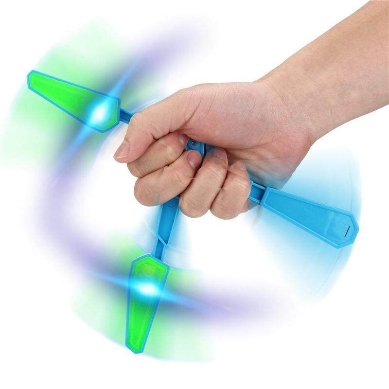 Hình ảnh Butterfly Flipper Flip Stress Reliever Light Up Luminous Hand Training Focus EDC Toy - intl