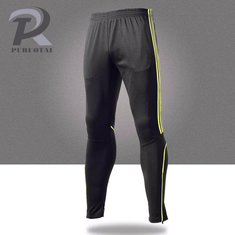 ... Price) New Straight Pants Men's Football Training Fitness Running Pants Quick Dry Breathable