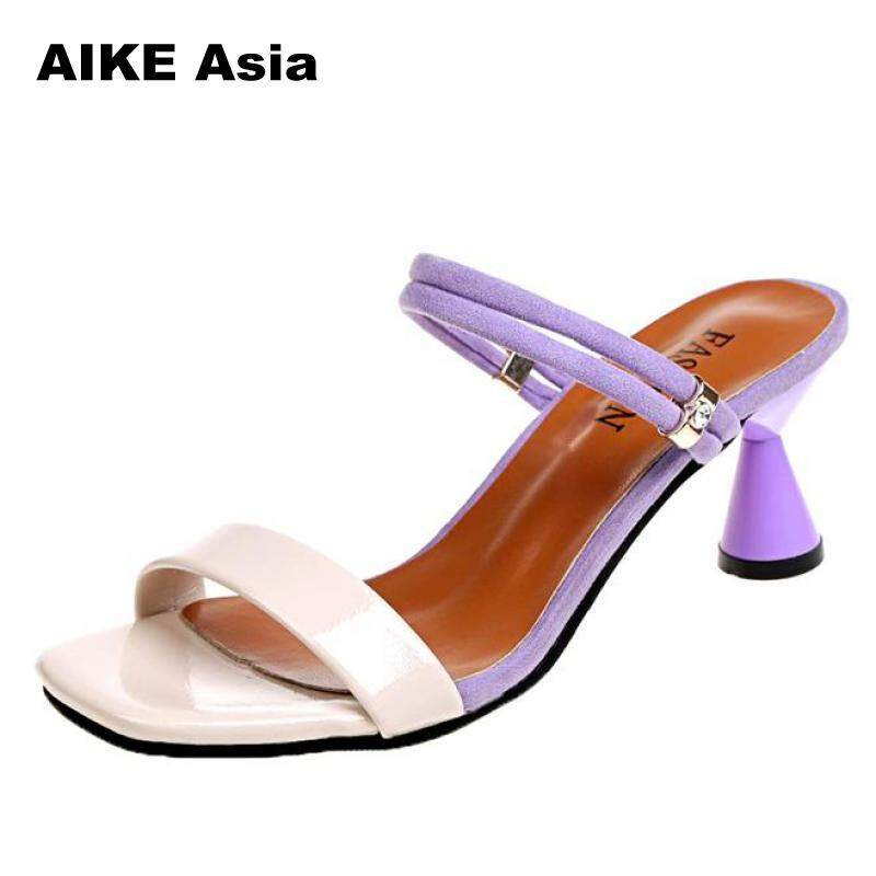 2018 Summer Women Shoes Pumps Dress High Heels Boat Wedding Tenis Femininoside Withpeep Toe Sandals Slip-on Casual #a-8