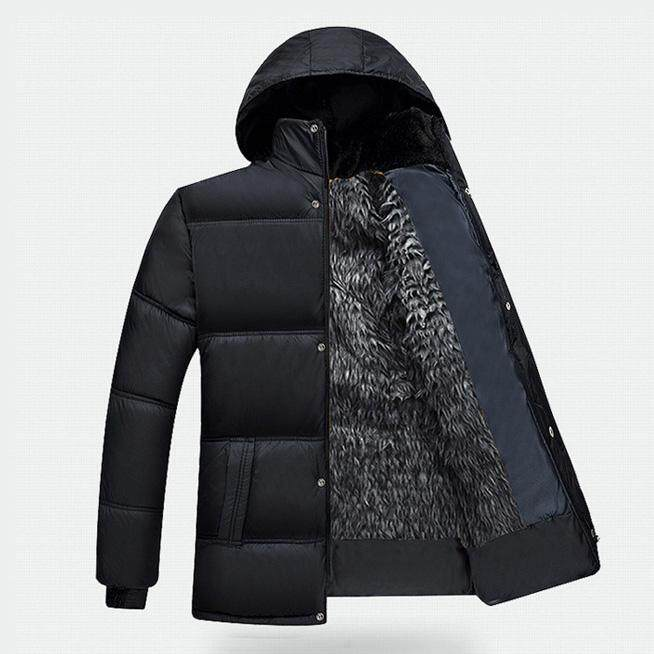 862ed7ef1b30 New Fashion Warmth Coats Winter Men Thickening Casual Cotton Jacket  Outdoors Windproof Breathable Coat Parka Plus