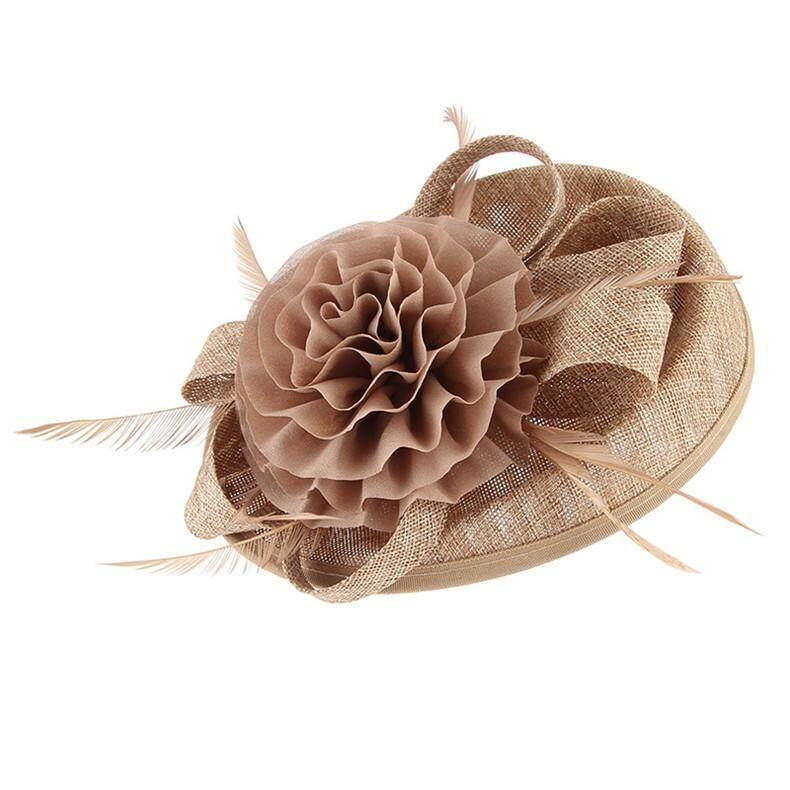 345906b152364 GEMVIE Vintage Women Fascinator Hat Flower Hair Clip Headwear Derby Church  Wedding Cocktail Feather Hat Hair