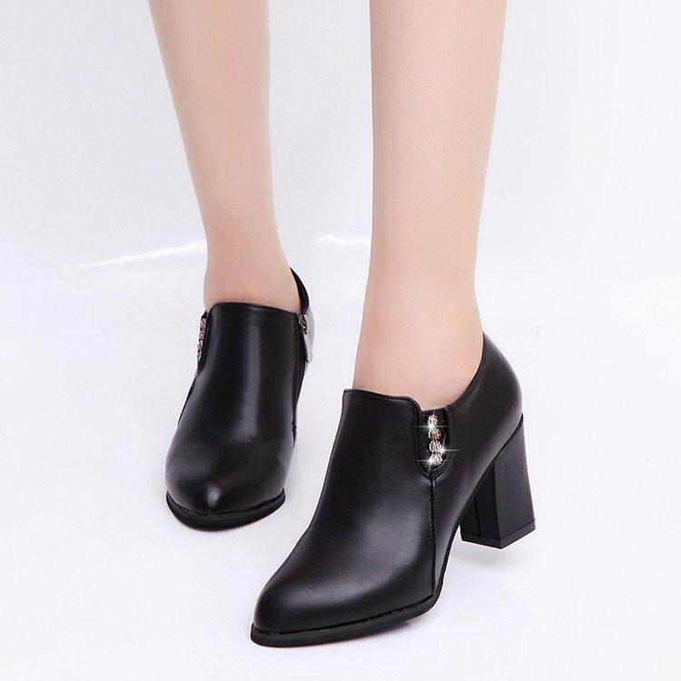 New Fashion Women Autumn Shoes High Heels Female Casual Ankle Boots Thick Heels Winter Boots Shoes By Fashion Go.