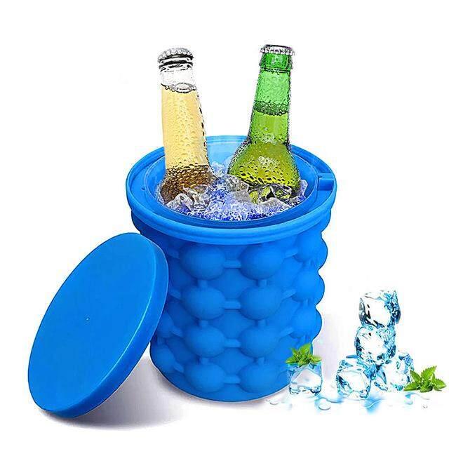 Ice Bucket - Saving Ice Cube Maker Irlde Ice Genie Wine Bottle Holders Ice Bucket Cooler Wine Rack Kitchen Bar Tools