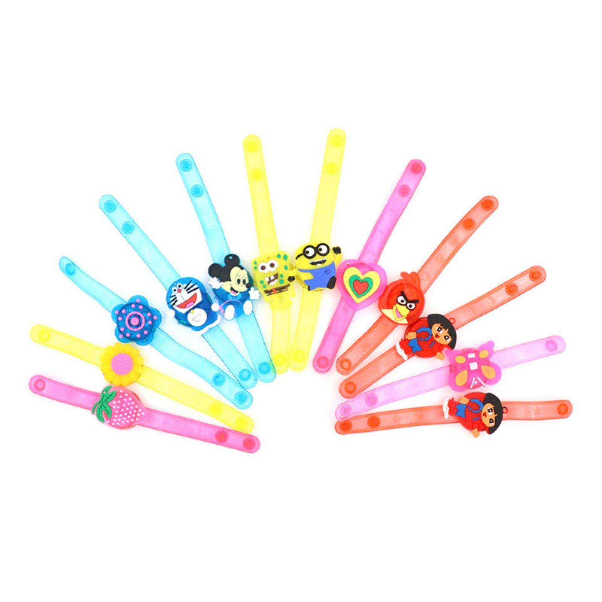 Hình ảnh 2Pcs Children Cartoon Bracelet Led Light Glow Flashing Party Bracelet Adjustable