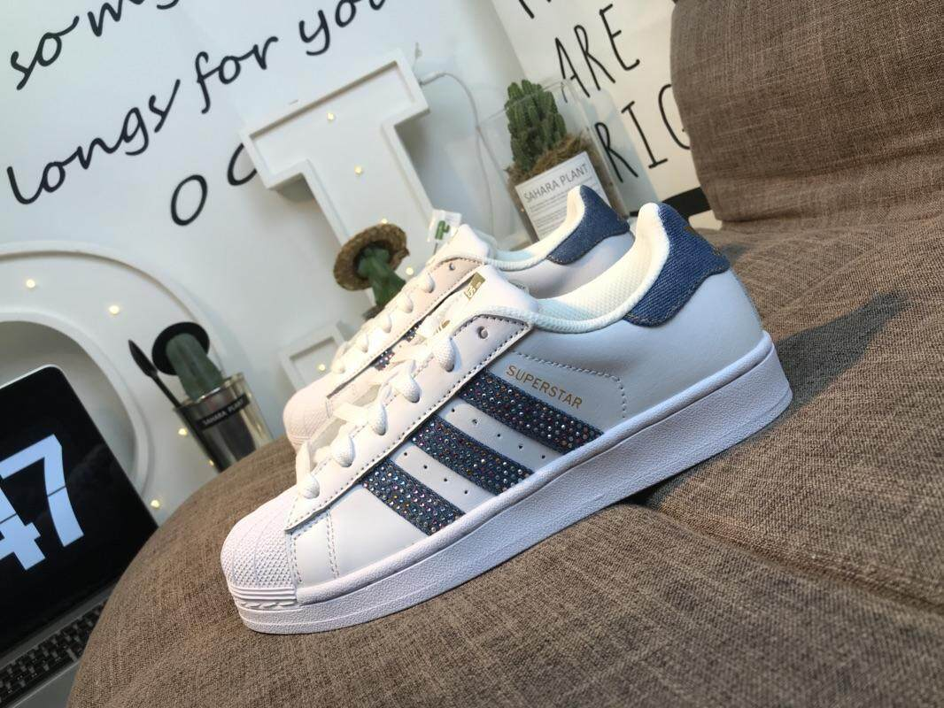 Adidas Womens Shoes Price In Malaysia Best Superstar Original Super Star Foundation Shell Head Bright Blue Flash Drill Casual