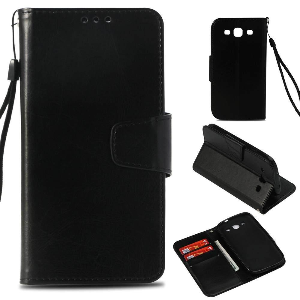 Untuk Samsung Galaxy S3 Klasik Desain Premium Dudukan Flip Dompet PU Case Kulit Cover-Intl