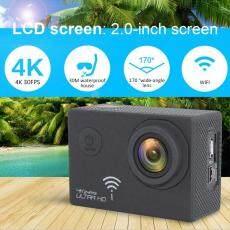 Qnstar 2.0 Inci Layar 170 Derajat Lebar Sudut Kamera Aksi 4 K WIFI (Hitam)