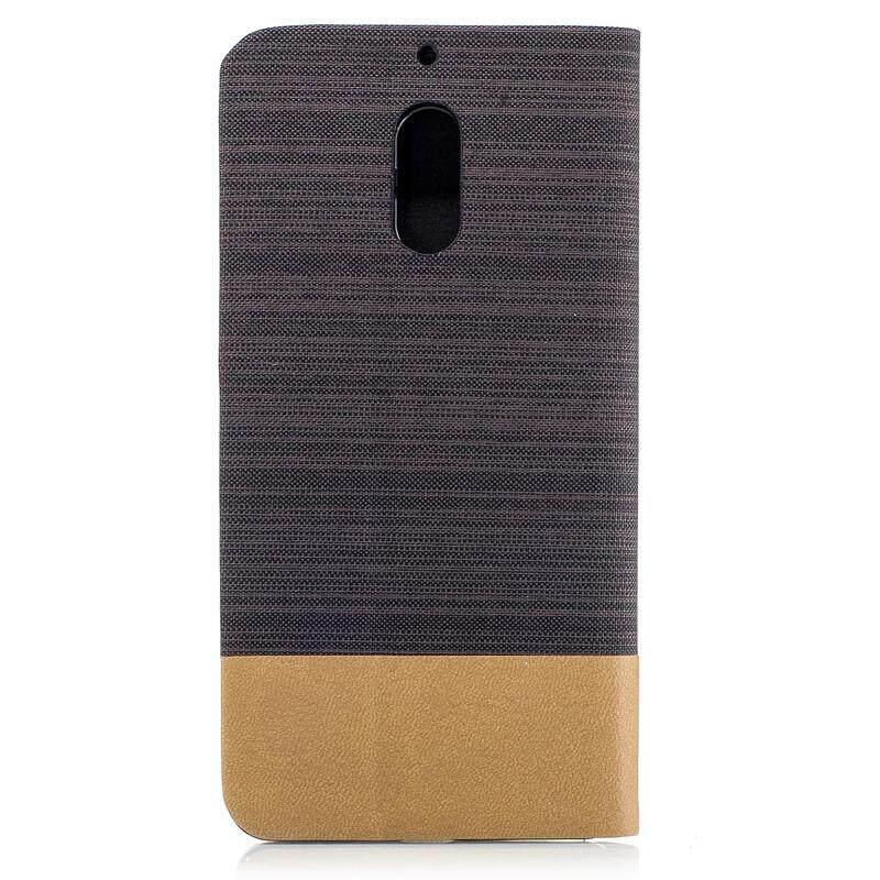 Dompet Flip Case untuk Nokia 6 Kanvas Kulit Imitasi Kantung Telepon Gengam Cover .