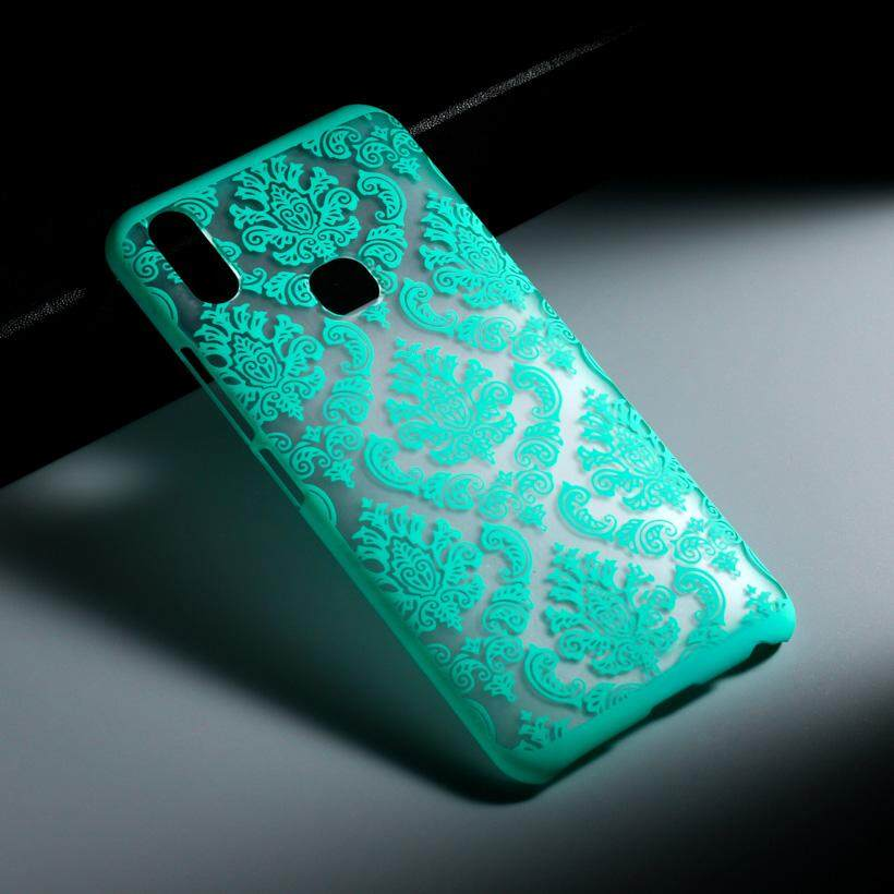 Akabeila Berlubang Bulu Telepon Plastik Keras Case S untuk Vivo V9 Vivo Y85 6.3 Inch Mencakup