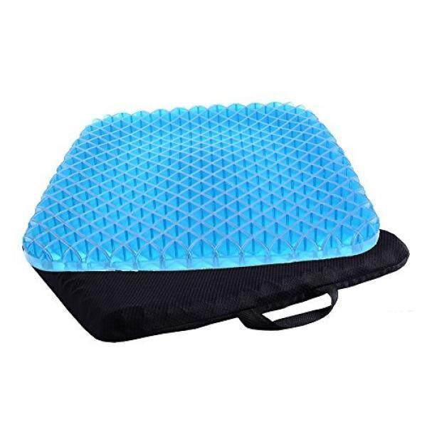 Umum Gel Pelindung Bantalan Kursi Portabel Bernapas Honeycomb Kursi Gel Pad dengan Penutup Yang Bisa Dicuci Untuk Teras Kayu Kursi Logam, Bangku Taman, kursi Roda, Kantor, Mobil dan Truk (Hitam)-Intl