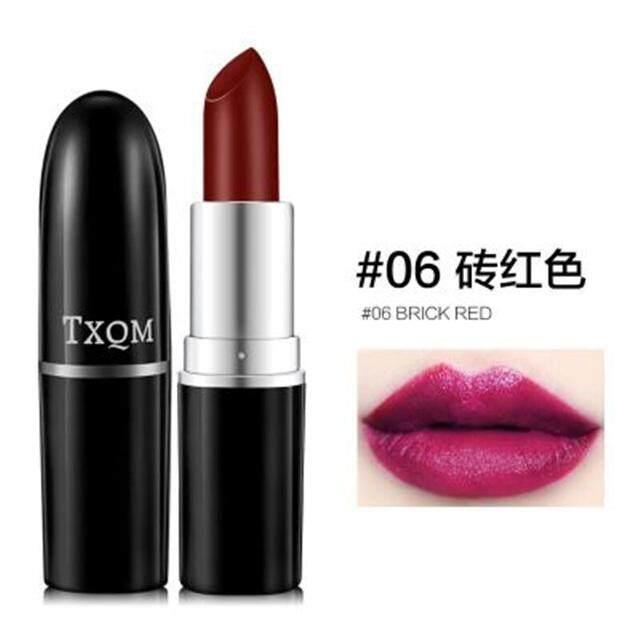 【 #06 Bata Red】duo Tian Xiu-Chi Indah Kabut Lipstik Velvet Tahan Lama Tahan Air Tidak Luntur Non-Stick piala Wanita Hamil Tersedia-Intl