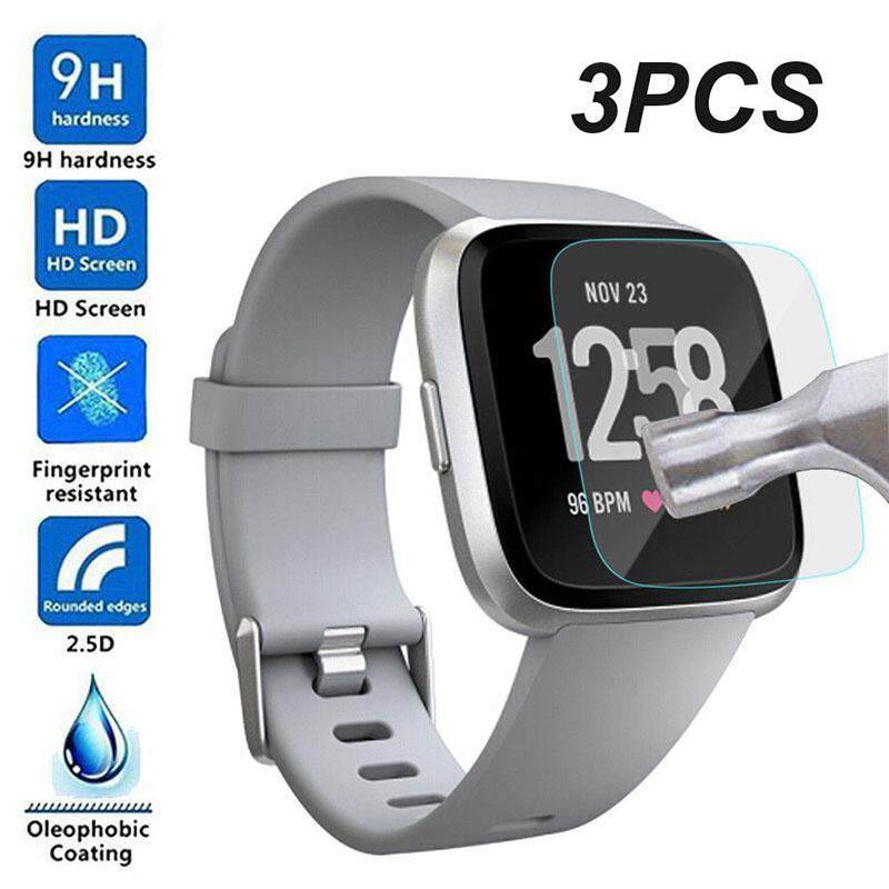 Ybc 3pcs Screen Protector Waterproof 9h Tempered Glass Screen Protector For Fitbit Versa Smart Watch By Your Bestchoice.