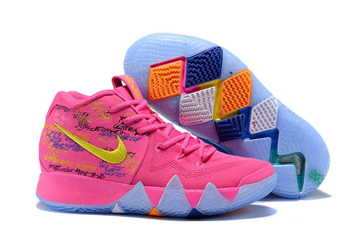Fitur Kyrie Irving The Nba Championship Kryie 4 Ep Slip Resistant Sepatu Kulit Casual Boston Hormone Coklat Womens Basketball Shoes Celtics