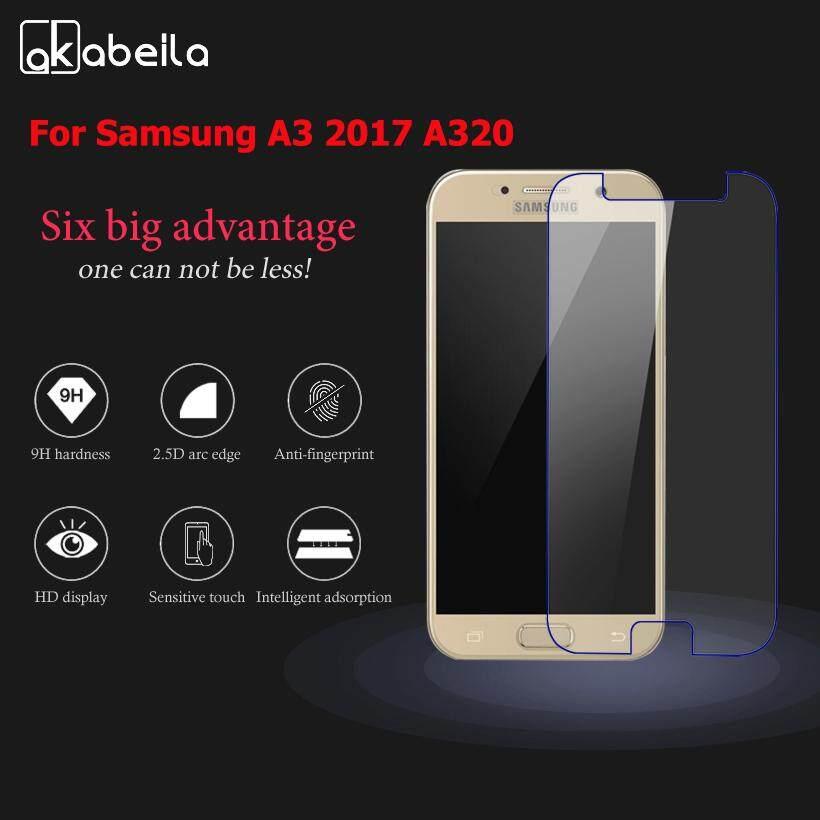 Akabeila 2 Kaca Tempa Pcs untuk Samsung Galaxy A3 2017 A320FL A320F A320F/DS A320Y/DS A320Y A320 A3200 4.7 Ponsel Cerdas Inci pelindung Layar Film