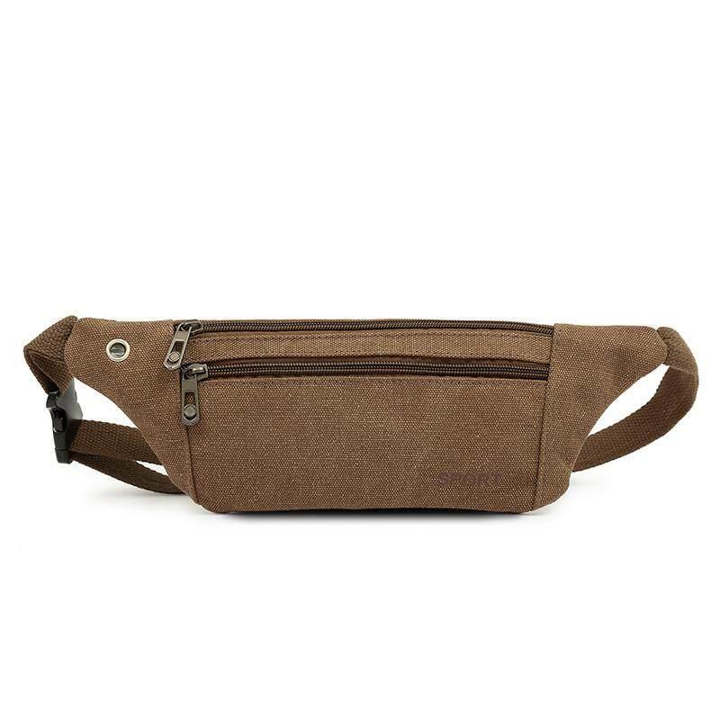 Pria dan wanita tas pinggang olahraga Kapasitas Besar bisnis kasir Tas kain kanvas tas pinggang multifungsi