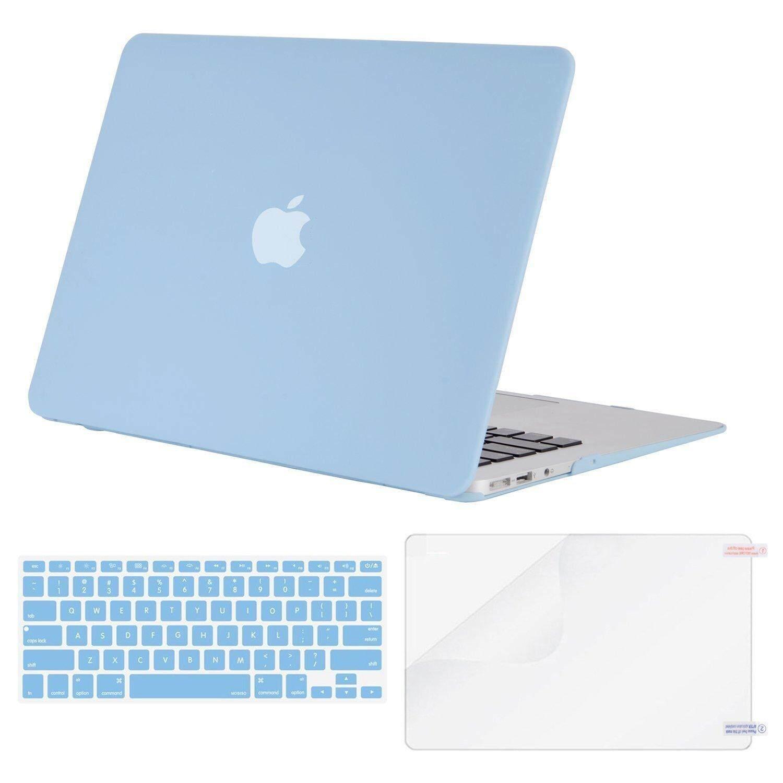 MAC Buku Case Plastik Casing Keras Berpola Shell & Penutup Papan Ketik & Pelindung Layar Kompatibel MacBook Air 11 Inci (Model: a1370 & A1465)