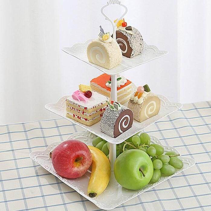 3 LAYER CAKE SQUARE STAND