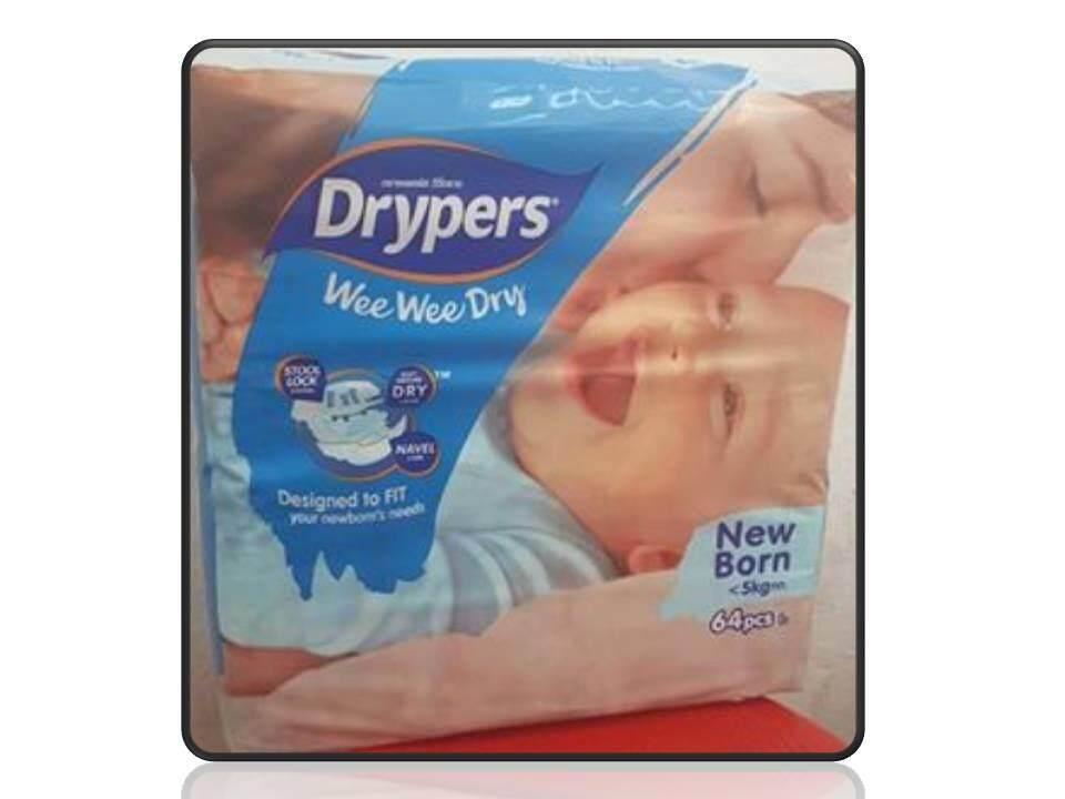 [NEW PACKAGING] Drypers WWD New Born 64pcs X 2 Packs