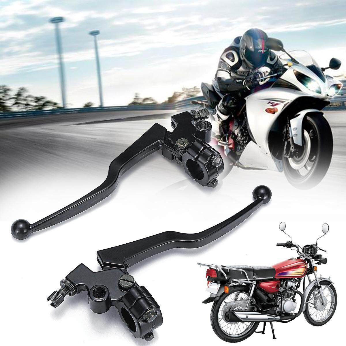 【Free Shipping + Flash Deal】2X Motorcycle Aluminum Alloy Front Brake &  Clutch Lever Set For Honda CG 125
