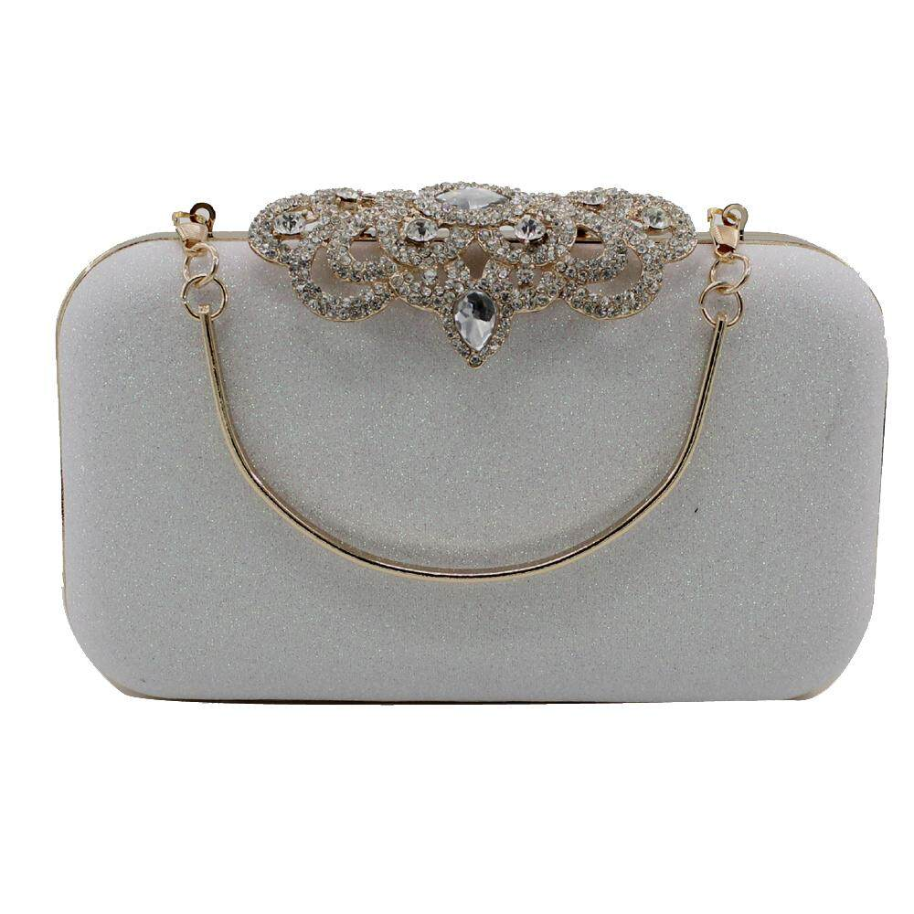 Kingluck Women S Diamond With Handle Design Evening Clutch Bags Wedding Purse Intl