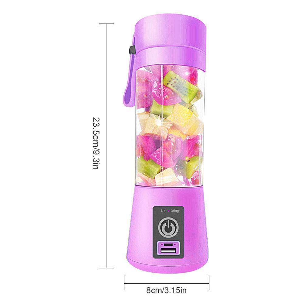 Detail Gambar GoodGreat Portable Blender Personal Juicer Cup With USB Charging Cable Smoothie Maker Fruit Mixer For Travel Gym Picnic Home Or Office 380ML ...